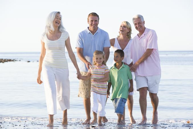 Photo d'une famille avec 3 générations