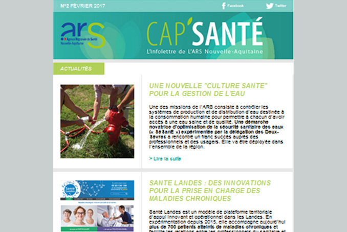 Image Newsletter ARS Nouvelle-Aquitaine