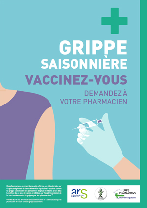 Affiche vaccination pharmacie