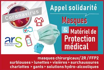 COVID-19 - Appel solidarité - Masques et matériel de protection ...