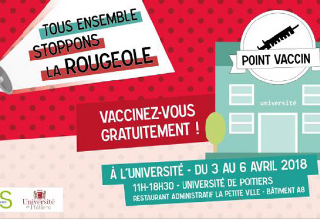 Illustration  Point vacin rougeole Poitiers en 2018