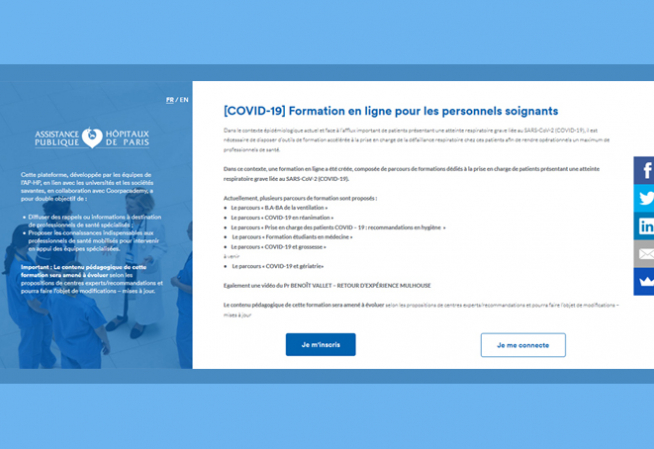Visuel COVID-19 - Plateforme E-learning AP-HP
