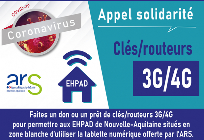 Visuel EHPAD Tablettes dons 3G/4G